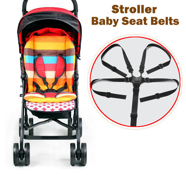 Free shipping Child tricycle baby stroller seat belts dining chair bandage buggiest five point safety belt
