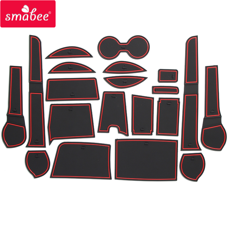smabee Gate slot pad For Toyota 2015 Fortuner 20PCS Non-slip Mats Interior Door Pad/Cup red blue white smabee gate slot mats interior door pad cup for lada kalina non slip mats red blue white black