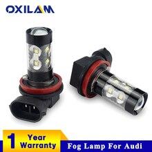 OXILAM 2x H3 H8 H11 светодиодный лампы автомобилей Туман огни DRL дальнего для Audi A3 8 P 8L A4 A6 C5 C6 A4 B8 B7 80 A5 B5 Q7 TT Q5 A1 100 S3