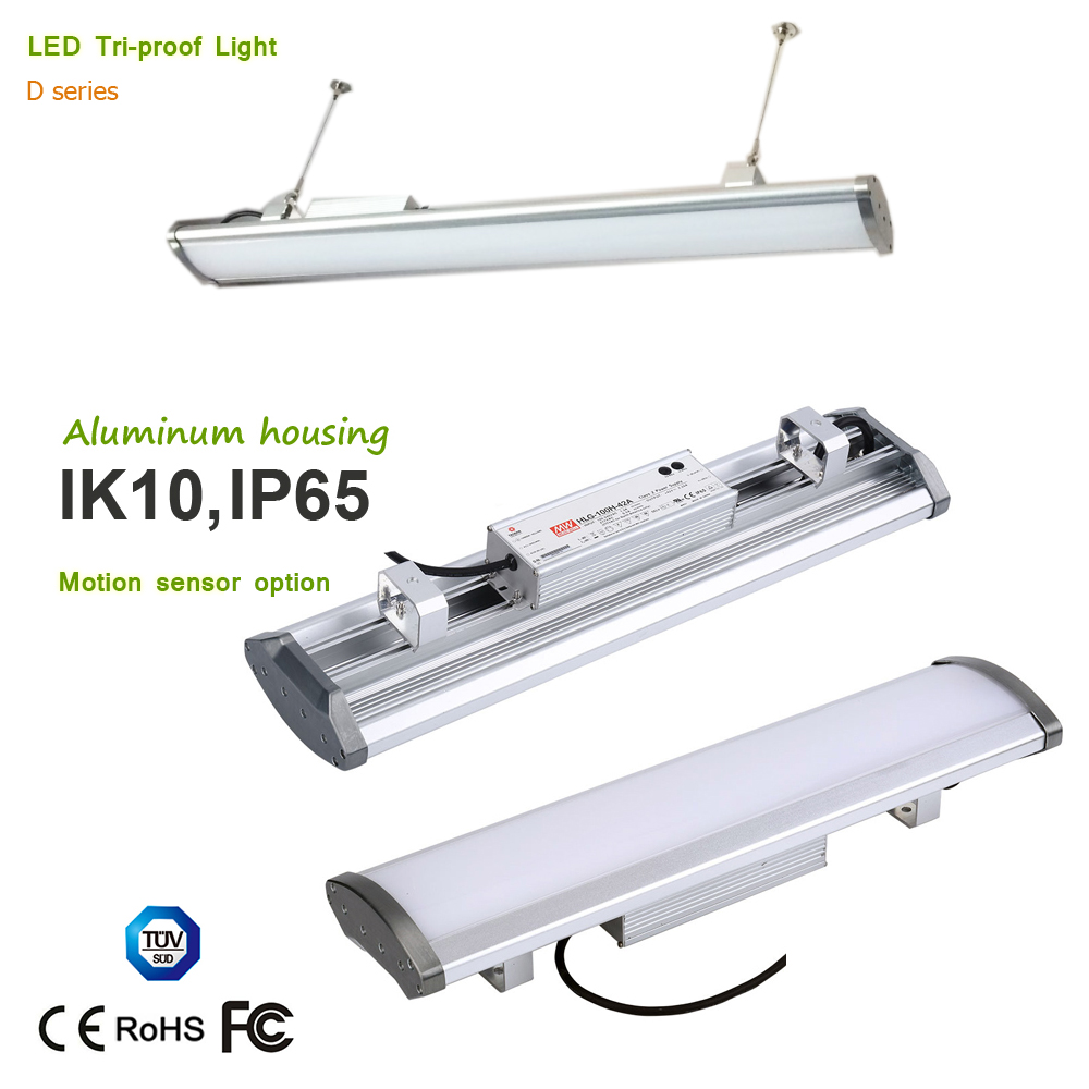 Super High Bay Light No Glare PC Cover 80W 120W 150W 200W led Linear Tri-proof Lighting IP65/IK10 Rating 5 Years Warranty цена и фото