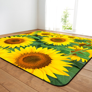 Image 5 - 11 rodzajów kwiaty duże dywany romantyczna róża duży Parlor mata miękka flanelowa dywaniki słonecznika domu dekoracyjne do salonu sypialni