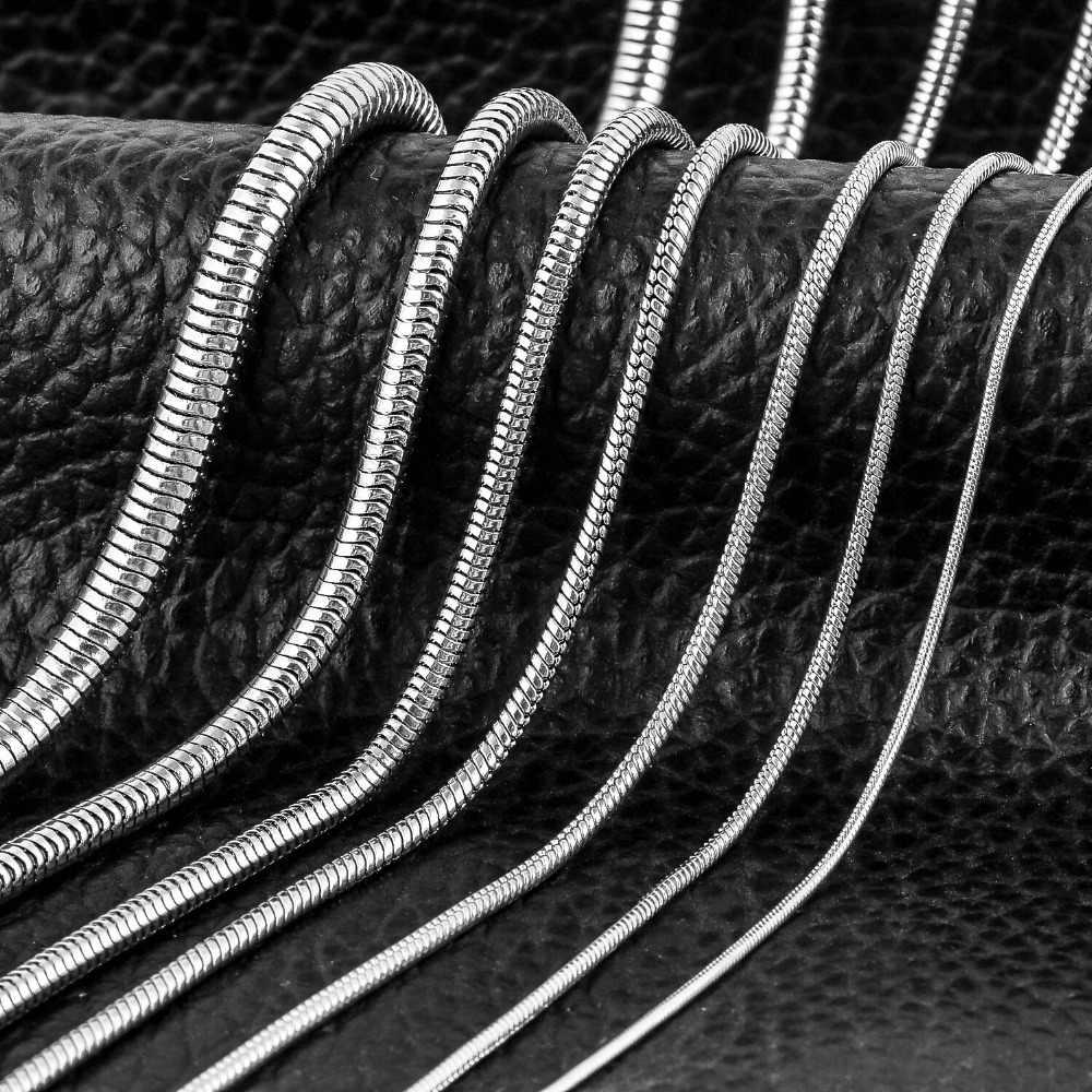 1 pezzo In acciaio inox Rotonda Della Catena Del Serpente Del Pendente Della Collana Per Le Donne Degli Uomini Dei Monili Della Collana
