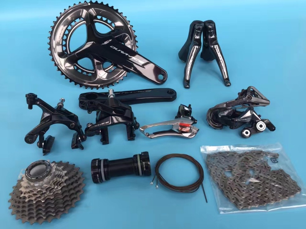 SHIMANO 2017 DURA ACE 9100 r9100 road bike bicycle groupset kit shimano dura ace black carbon fiber bike pedals pd r9100 9100 pedal with sm sh12 cleats