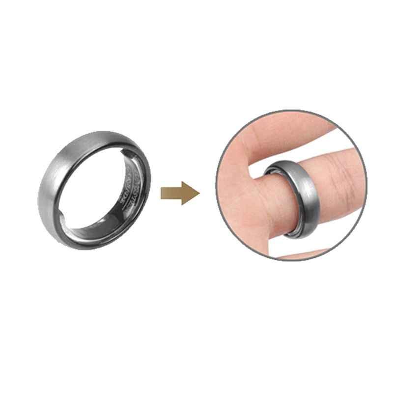 Ajuste Invisible del tamaño del anillo para anillos sueltos, fijador espaciador de joyería de 6 tamaños