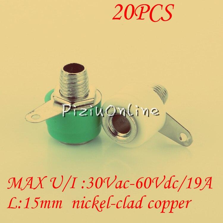 20 pcs YT221 níquel-cobre revestido de 4mm acessórios Blocos de Terminais  de banana Banana plugs Áudio jack Frete Grátis 89034996e51