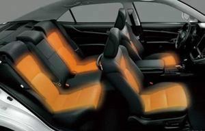 Image 5 - شحن مجاني 2 مقاعد مناسبة لتويوتا مقعد سخان مقاوم للماء ألياف الكربون الأصلي نظام تدفئة مقعد السيارة 12 فولت تركيب أداة