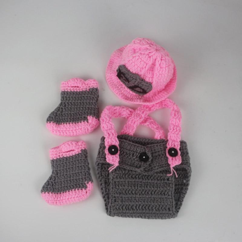 Bebé bombero fotografía infantil de punto de ganchillo hat + ...