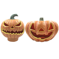 Novelty Lighting Halloween Decor Pumpkins LED Lanterns Pumpkin Barrel Lamp Lights Venue Atmosphere Decorative Lamps