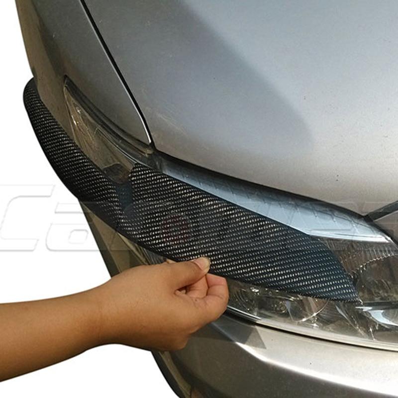 for 2006-2013 Toyota Corolla Carbon Fiber Headlight Eyebrows Eyelids Cover