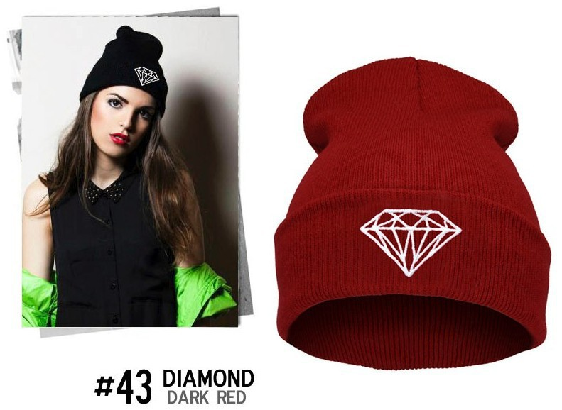 Beanie New Fashion Beanie Roll-Up Hem Caps Skullies Wool Knitted Hat ... 694a70a2957a