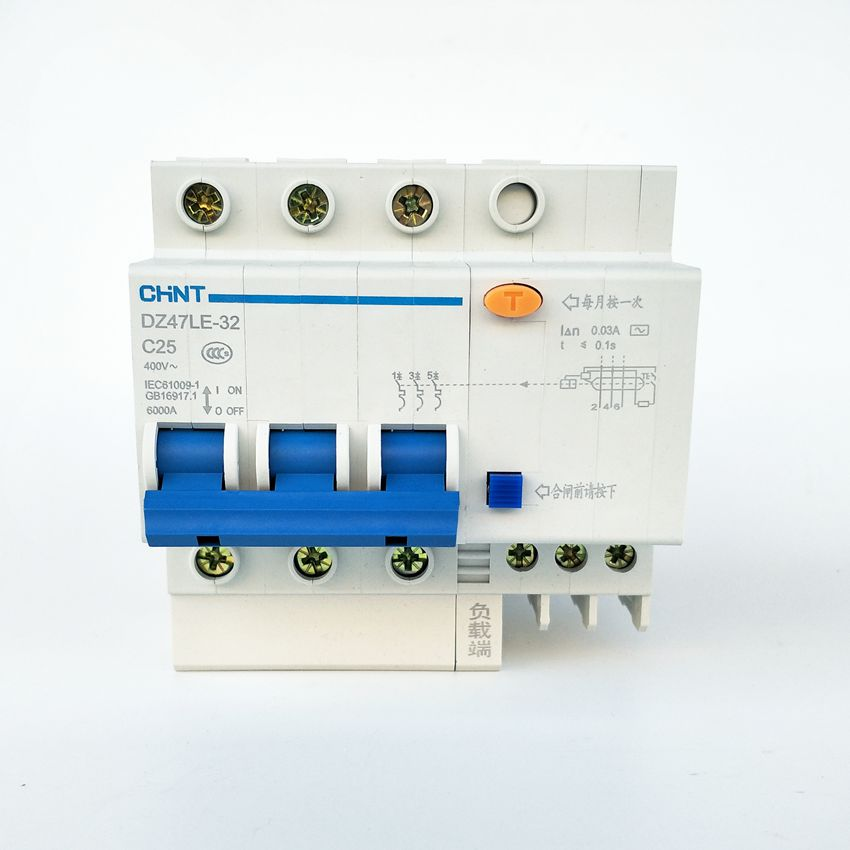 CHINT DZ47LE-32 3P C25A 30mA Earth Leakage Circuit Breaker/Residual Current Operated Circuit Breaker geo