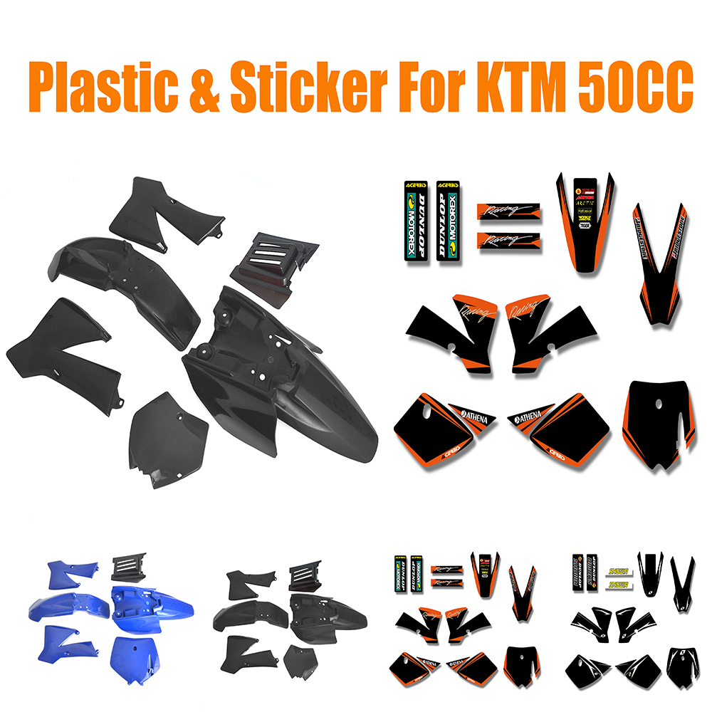 Motorcycle Full Plastic & Decals Sticker Graphics For KTM 50CC SX 50 Pit Dirt Bike 35 83 motorcycle throttle cable for 50cc 150cc dirt bike d030 042