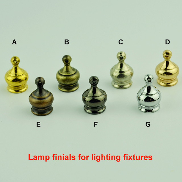 10PCS/LOT Table/Floor Lamp Finial M10 Inner Tooth Nut Electroplating DIY  Lighting Accessories
