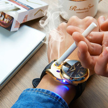 Rechargeable USB Lighter Windproof Wristwatch