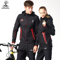 Men Cycling Jacket Bike Winter Fleece Cycling Jackets Windproof Cycling Jersey Breathable Ciclismo Maillot