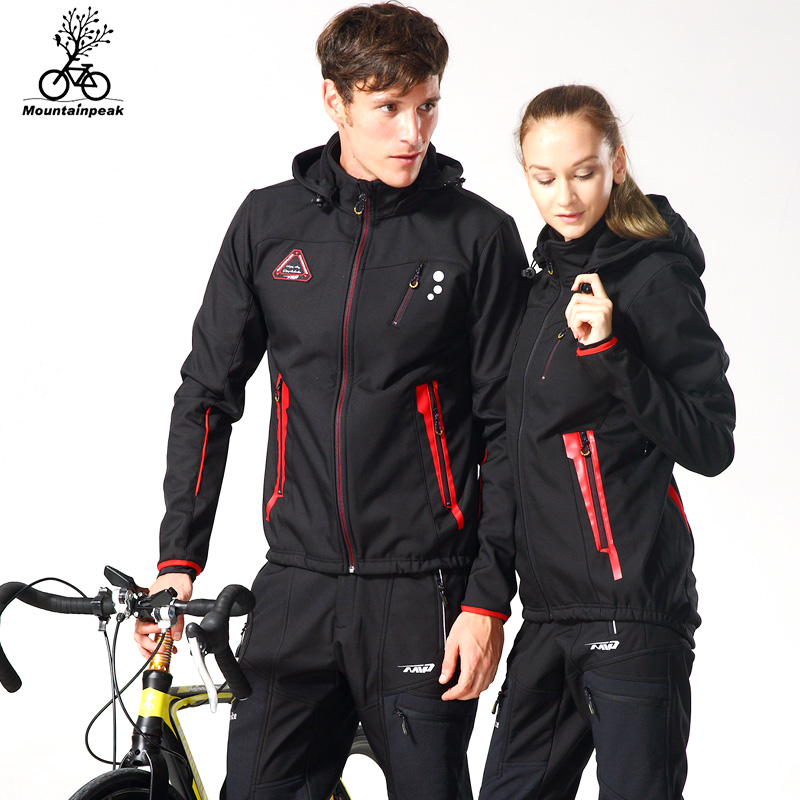 Mountainpeak Women Men Cycling Jacket Set Winter Thermal Fleece Cycling Clothing Sport Bike Warm Cycling Jersey Ciclismo Maillot bxio brand winter thermal fleece bicycle jerseys 5d gel pad bike clothes warm long sleeves cycling clothing maillot ciclismo 114