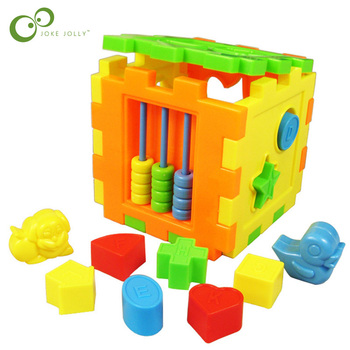 Colorful Baby Square Disassemby Building Block Matching Blocks Assembled Model Intelligence Sorting Box Educational Toys WYQ