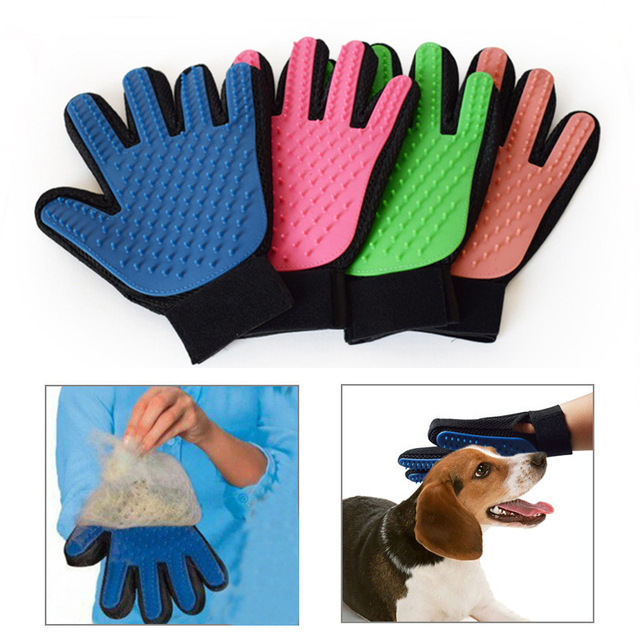 Deshedding Brush Glove for Animal Cat Supplies Pet Gloves Hair Comb Five Finger Glove For Cat Grooming Supplies Cat Pet  30 A1 2