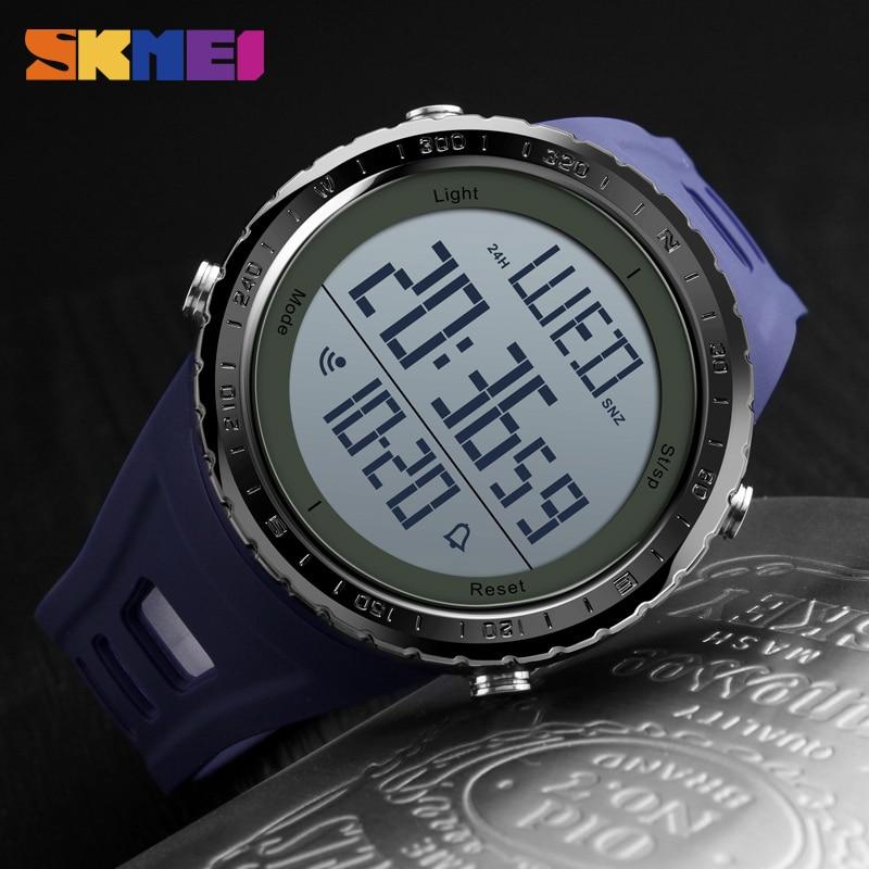 SKMEI Fashion Sport Watch Men Clock Big Dial Simple Chronograph Shock Watches 5Bar Waterproof Digital Watch Reloj Hombre 2019