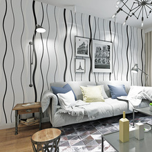 цена на Modern Curve Wallpapers Home Decor Non Woven Stripped Wallpaper Roll for Bedroom Background Walls Mural papel de parede infantil