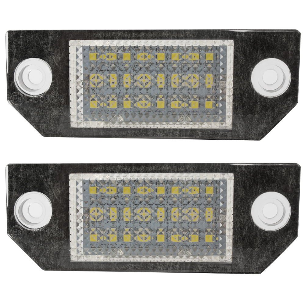 2pcs 5W Car LED License Number Plate Light For Ford Focus 2 3 Kuga C Max