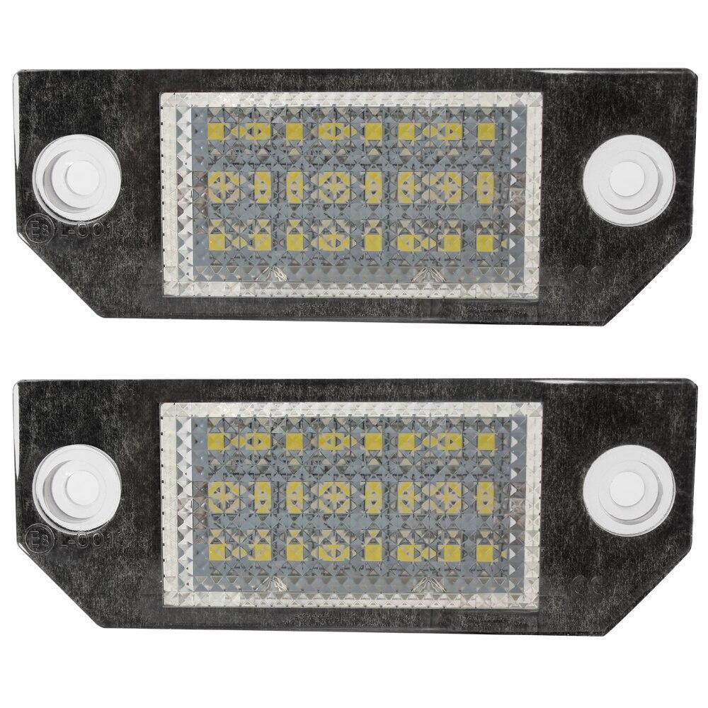 2 pcs 5 W Voiture LED Nombre de Plaque D'immatriculation pour Ford Focus 2 3 Kuga C-Max Mondeo 24 LED Ampoules 6000 K Voiture-styling Auto Lumière Source
