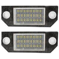 2 sztuk 5 W LED Oświetlenie Tablicy Rejestracyjnej Licencji Samochodu dla Ford Focus 2 3 ford Kuga Mondeo C-max 24 Źródło Światła LED Żarówki 6000 K Samochodów stylizacji Auto