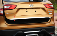 New For Nissan Qashqai J11 2014 2015 Stainless Steel Rear Tailgate Trunk Lid Cover Trim 1pcs