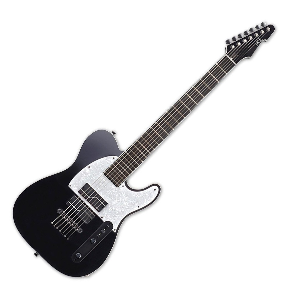 buy 7 strings guitar e2 tb7 black electric guitar from reliable guitar. Black Bedroom Furniture Sets. Home Design Ideas