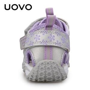 Image 2 - UOVO جديد وصول 2020 الصيف صنادل شاطئ الاطفال مغلق تو طفل الصنادل الأطفال موضة أحذية مصممين للفتيات #24 38