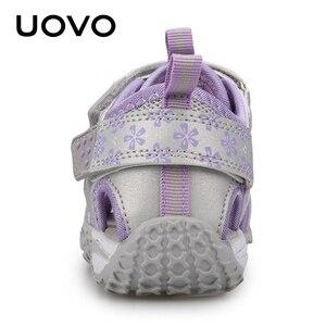 Image 2 - Uovo 새로운 도착 2020 여름 해변 샌들 키즈 휴관일 발가락 유아 샌들 어린이 패션 디자이너 신발 여자 #24 38