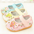 Princess baby girl shoes first walker 2015 new cotton newborn toddler girl shoes print pink beige blue footwear for children
