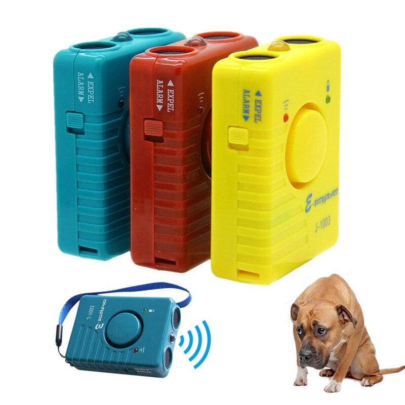 Image 2 - 超音波犬のリペラ抗樹皮トレーナー充電式ペット犬ストップ吠える Led 懐中電灯アラーム抑止モード虫除け   -