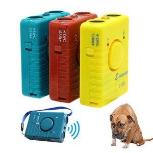 Image 2 - Repelente ultrasónico de perros, entrenador de Control antiladridos, recargable, para dejar de ladrar, disuasorio con linterna LED, modo de alarma