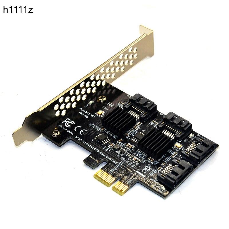4 puertos SATA 6g PCI Express tarjeta PCI-e a SATA III 3,0 convertidor con disipador de calor adaptador de expansión para PC IPFS