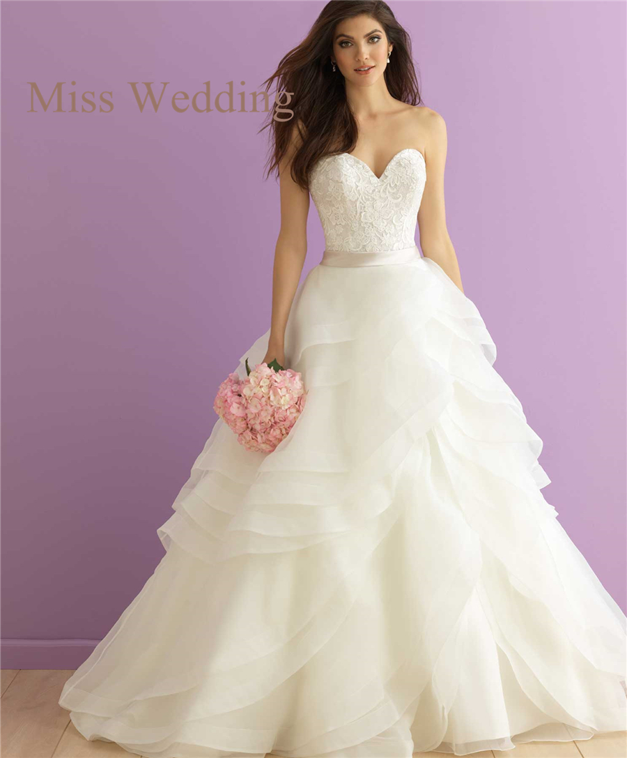New Arrival Tiered Skirt Princess Organza Wedding Dress