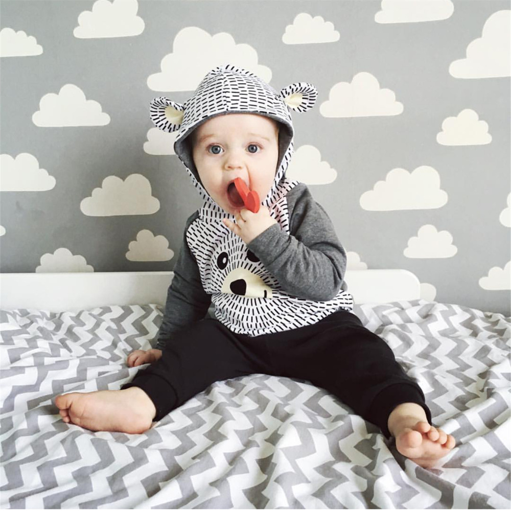 Newborn Toddler Infant Cute Baby Boy Clothes Set Cartoon ...