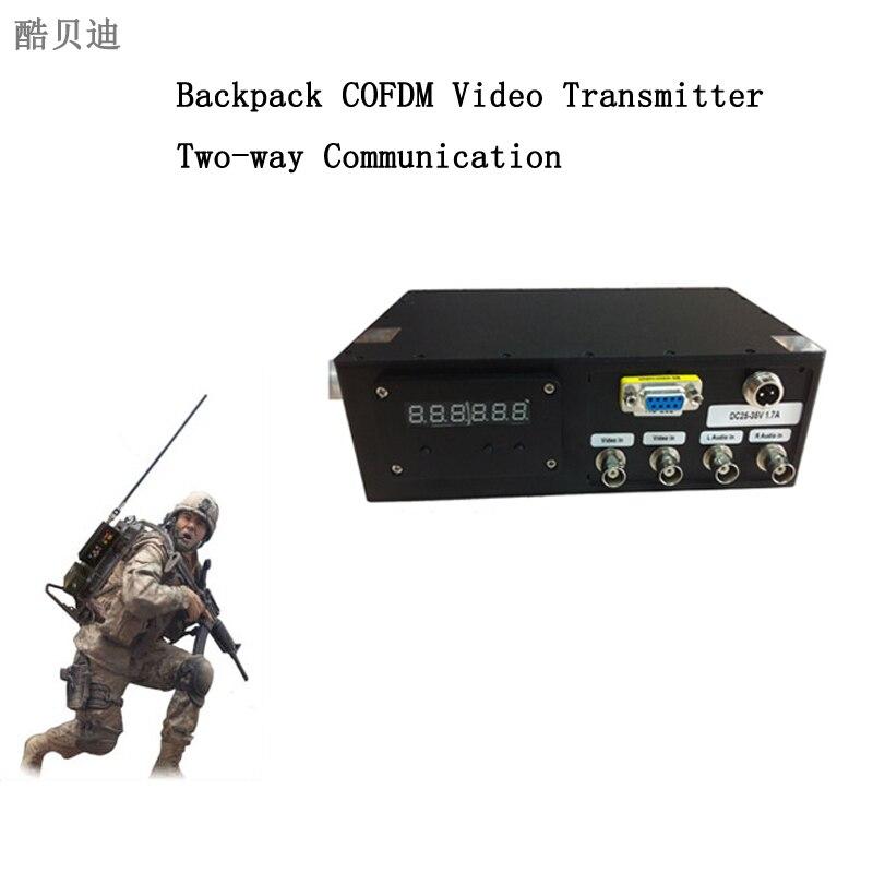 5 6 км НКП носимой видео передатчик 10 Вт РФ Long Range Беспроводной передатчик и приемник Цифровой COFDM модуляции h.264 кодирования