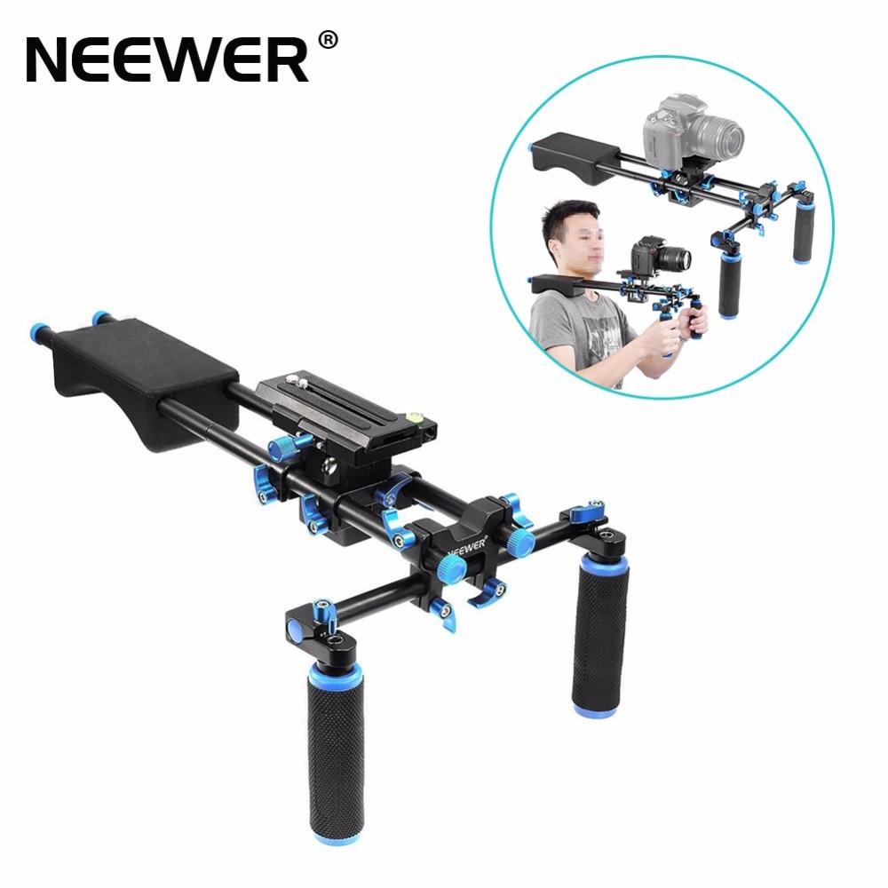 Neewer Portable FilmMaker System With Camera Camcorder Mount Slider Soft Rubber Shoulder Pad Handgrip For All
