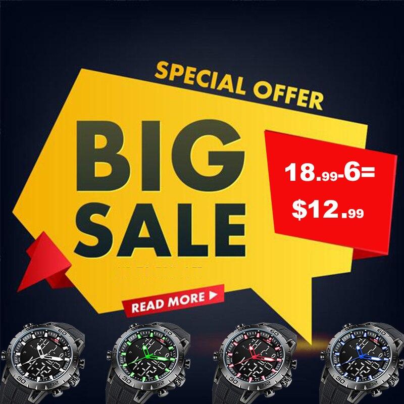 KAT-WACH de marca de lujo para hombre Relojes deportivos impermeable LED Digital Reloj militar de los hombres de moda electrónica Relojes