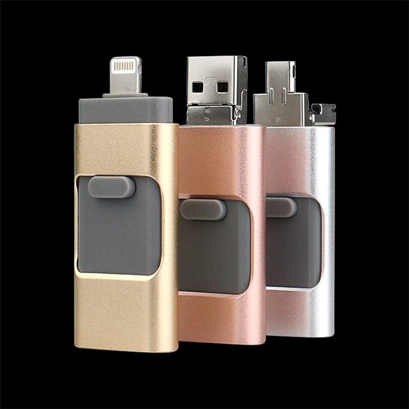 Usb 3.0 OTG-Stick 128 GB 16G 32G 64 GB Pen drive HD de almacenamiento externo de memoria para iphone ipad Unidad Flash USB