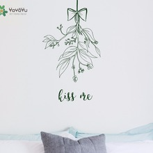 YOYOYU Vinyl Wall Decal Kiss Me Flower Bowknot Interior Art Plant Removable Home Decoration Stickers FD475 plant wall decal