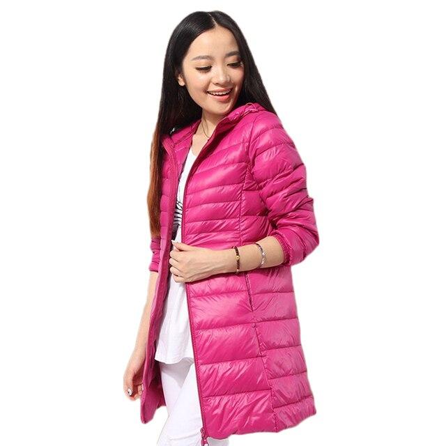 2016 de Inverno mulheres novo ultra light plus size com capuz casuais 6XL jaqueta chaqueta de invierno mujeres las frete grátis W062