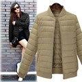 Inverno Mulheres Jaqueta Casaco Feminino Terno Vôo Jaquetas Casuais Casacos Mulher Outwear Listrado Plus Size 5XL Revestimento das Mulheres casaco