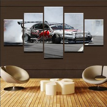 5 Panel MAZDA RX8 Sports Racing Car Canvas Art Wall Modular Picture Home Decor Living Room HD Printed Modern Painting