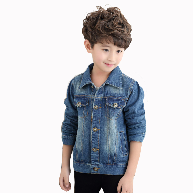 Teenager Boys Denim Jackets Coats Clothes For Boys Kids Children's Jeans Jacket Outwear Clothing In School New Spring Autumn 47 spring autumn kids motorcycle leather jacket black boys moto jackets clothes children outwear for boy clothing coats costume