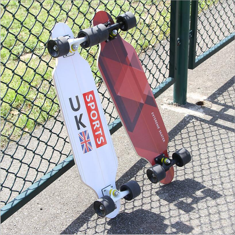 Image 3 - 80*20*11cm Professional Dancing Longboard Deck Freestyle Street Skateboard Canadian Maple Longboard Cruiser 4 Wheels Skate-in Skate Board from Sports & Entertainment