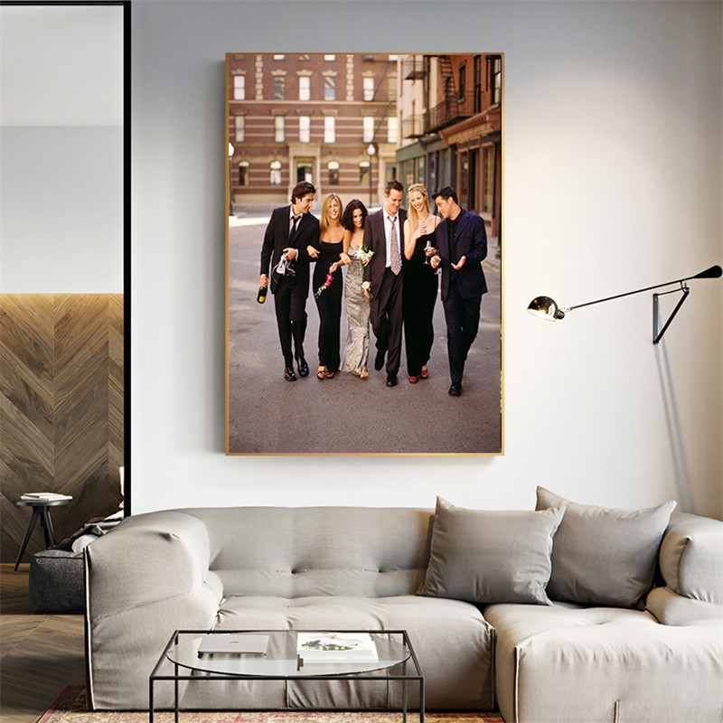 Movie Poster Friends TV Show Canvas Painting House Art