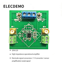 OPA129 Module High Impedance Operational Amplifier Module Electrode Signal Conversion IV Conversion Amplifying Weak Signal