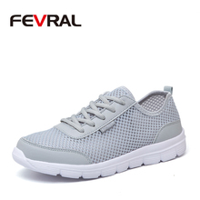 FEVRAL 2020 חדש מותג נעלי יוניסקס נוח לנשימה באיכות גבוהה אור נעלי גברים & אישה סניקרס בתוספת גדולה גודל 35 ~ 48